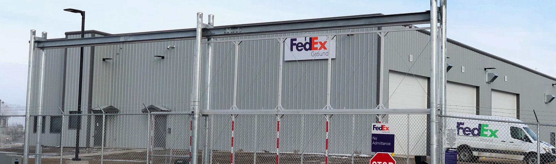 FedEx Ground Brandon MB Crane Steel